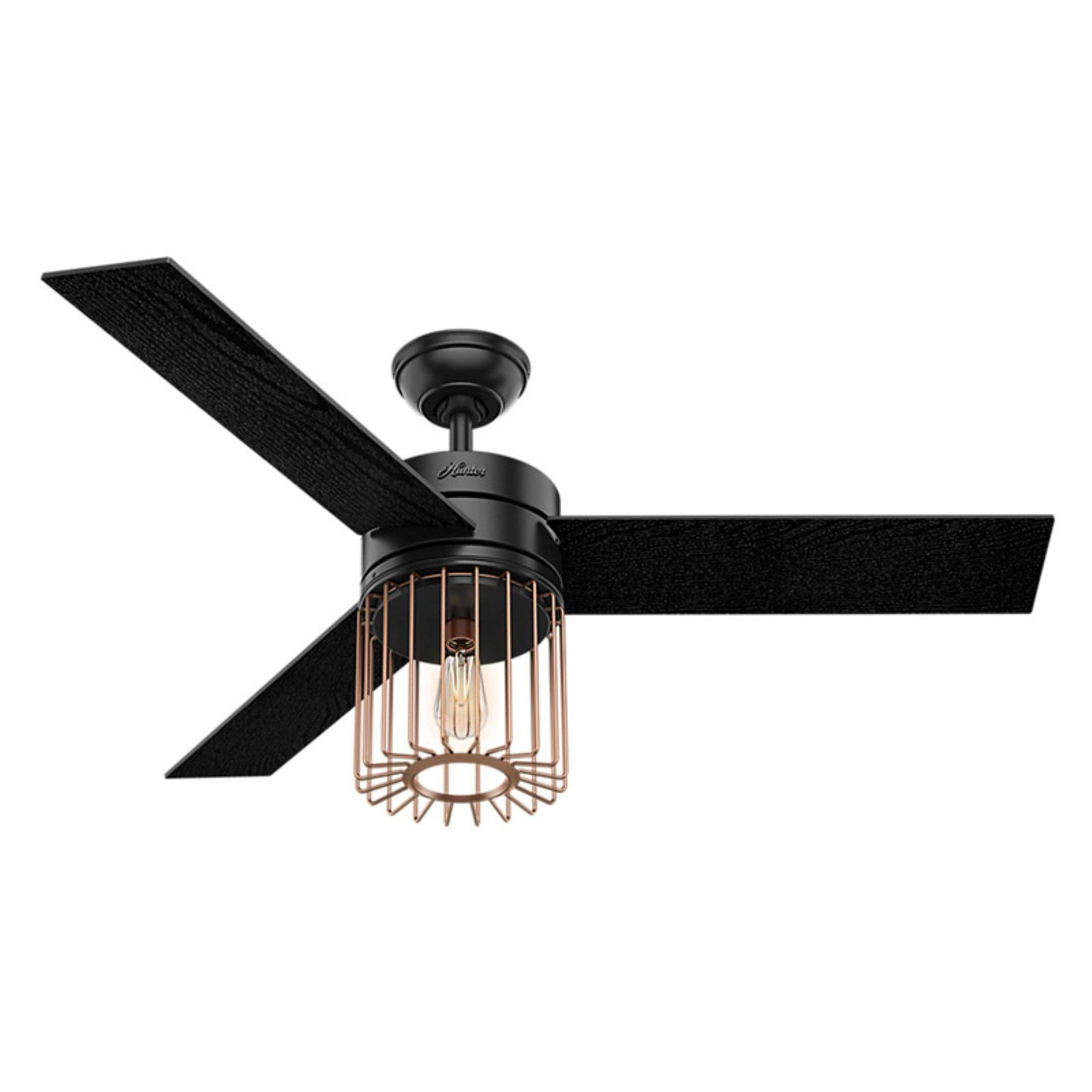 Hunter Ronan 52 In Indoor Ceiling Fan With Light And Remote