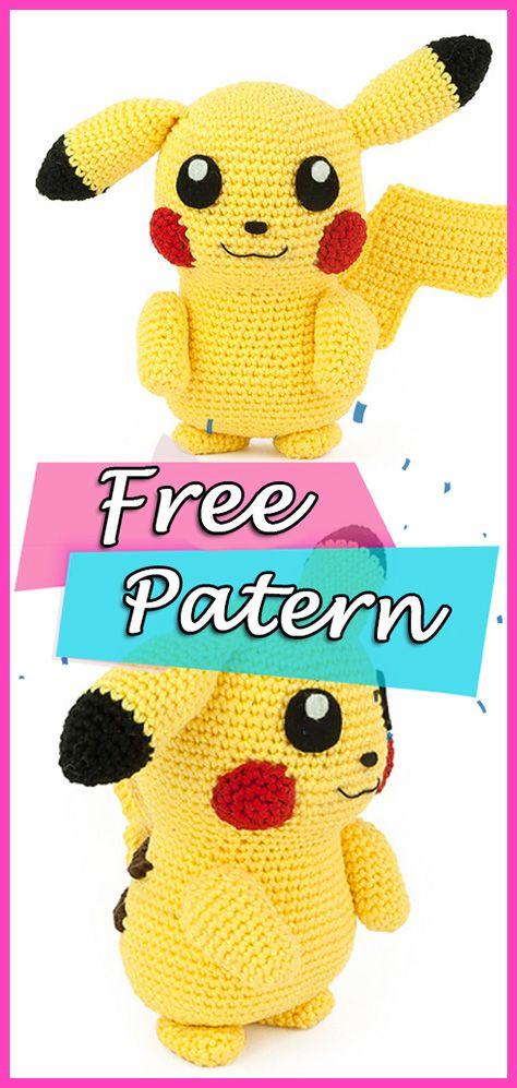 Crochet Pokemon Patterns Free | Pokemon crochet pattern, Crochet ... | 997x474