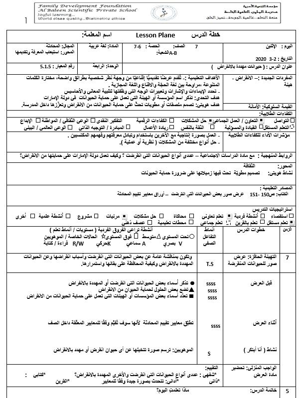 خطة درس حيوانات مهددة بالانقراض الصف السابع مادة اللغة العربية In 2021 Sheet Music Music