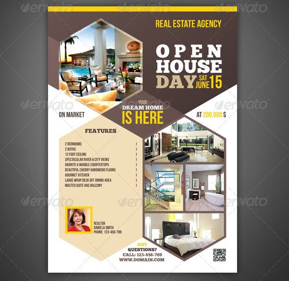 open house flyer template 30 free psd format download free premium - Free Open House Flyer Template