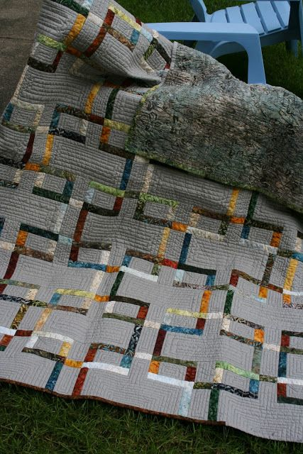Metro Link Quilt: love the colors! | Quilts, Quilts, Quilts ... : quilt patterns for men - Adamdwight.com
