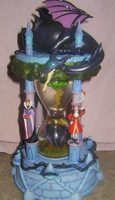 Disney Villian Hourglass Snowglobe Ligts and Sound | eBay