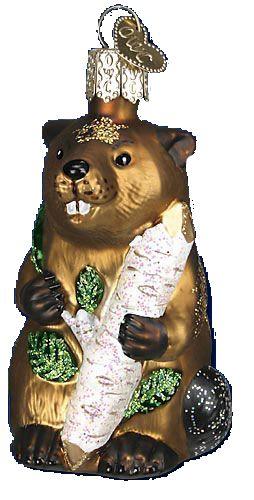Eager Beaver Glass Ornament Ornaments I Own Pinterest Ornament