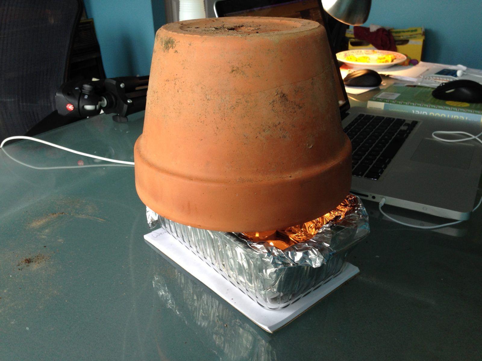 chauffage syst me d 39 appoint fait avec 2 pots en terre cuite tutoriel 36 objets pratiques. Black Bedroom Furniture Sets. Home Design Ideas