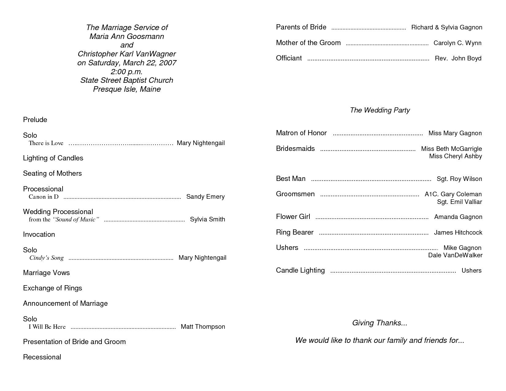 30 Free Printable Church Bulletin Templates in 2020 (With