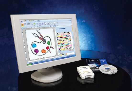 Palette 9 Machine Embroidery Software overview, see brochure link
