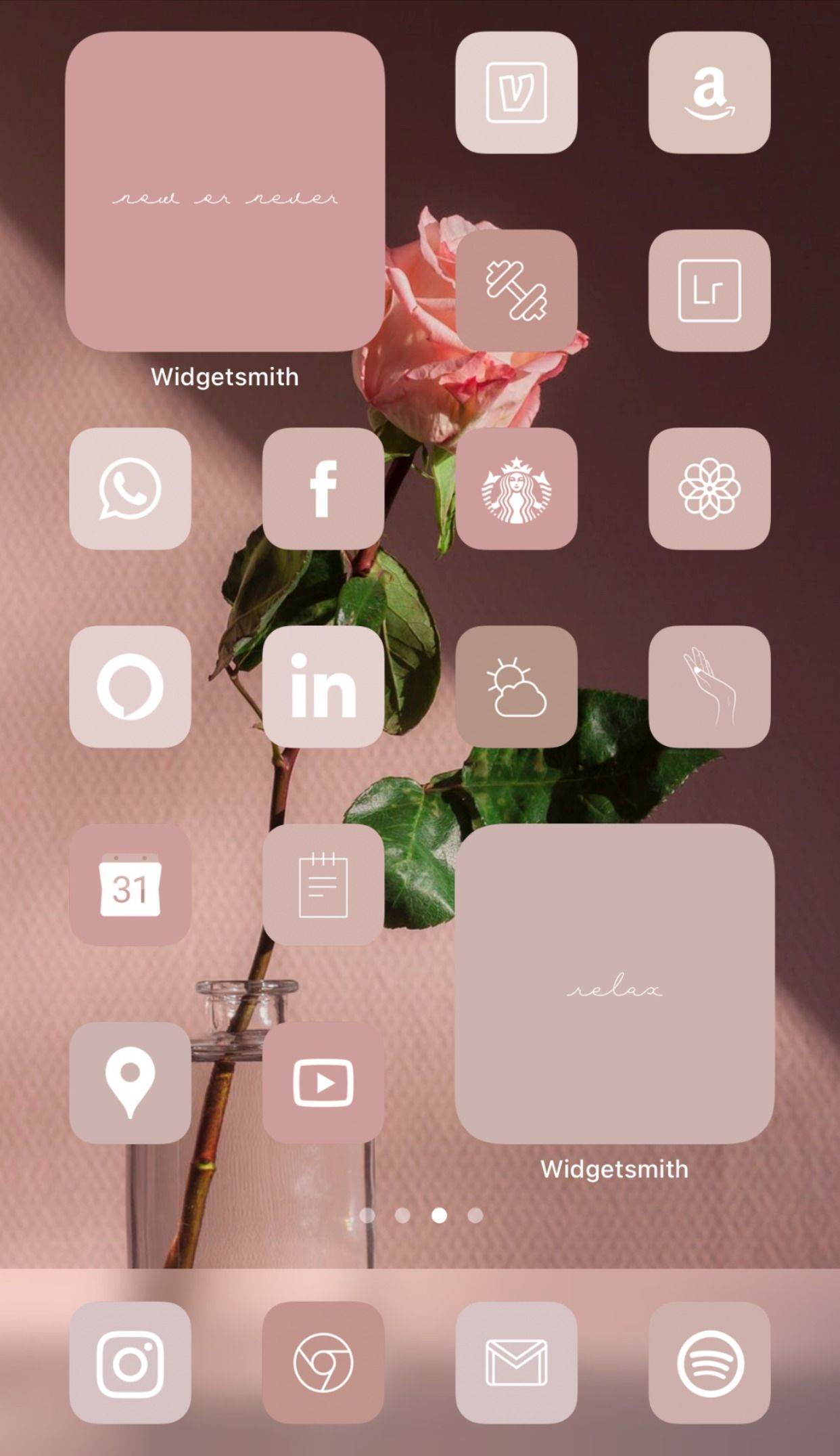 Warm Rose Neutral Aesthetic Iphone Home Screen Ideas Inspo Inspiration App Covers App Icons Ios 14 In 2020 App Icon Iphone App Layout Iphone Wallpaper Tumblr Aesthetic