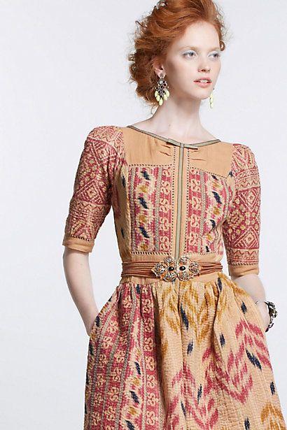 Vanga vintage kantha dress by indian designer vineet