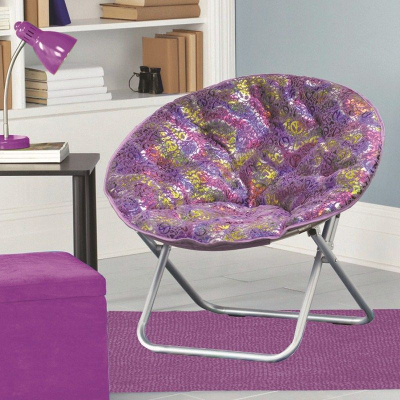 Saucer Chairs for Teens | Plush Saucer Chair - Peace Signs | Blood ...