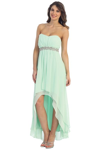 High Low Chiffon Bridesmaids Dress