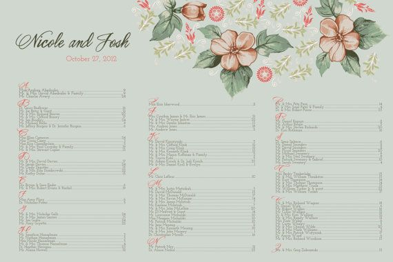 Floral wedding seating chart etsy thursday inspiration also rh pinterest