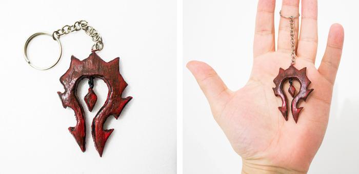 #DIY Horde Keychain - Chaveiro da Horda  World of Warcraft - Cake Lie Blog