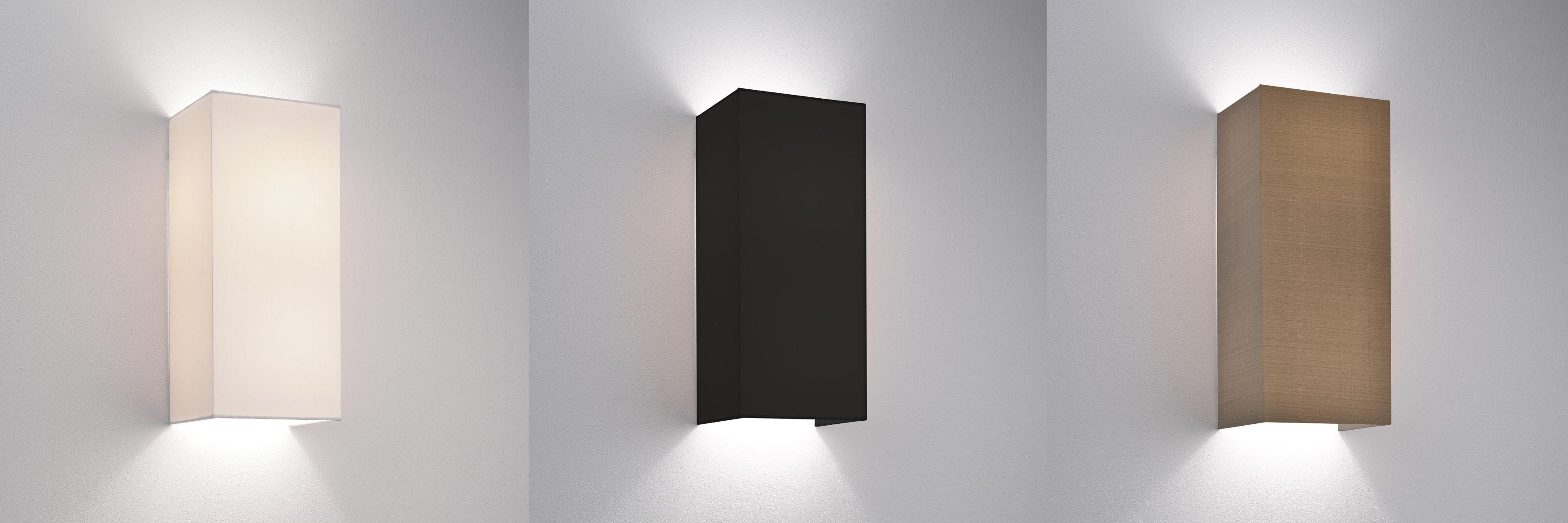 Astro Chuo 380 Fabric Wall Light Shade 2 X 60w E27 White Black Oyster