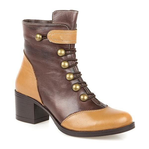 PAVERS WOMENS BROWN HIGH HEEL ANKLE