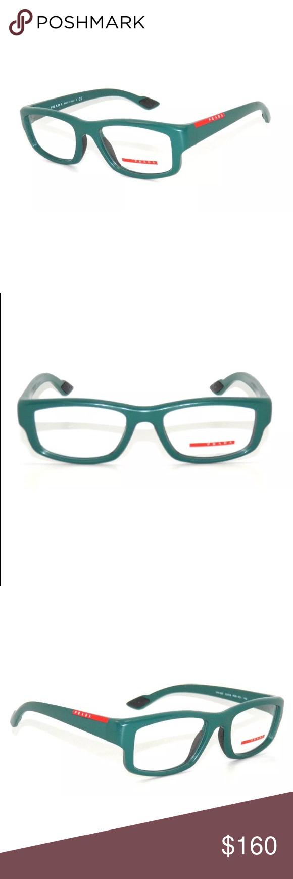 c2ab27c91f1 Prada Sport Glasses 02E Matte Green Frame New with clear lens Comes with  Prada case Authentic Prada Accessories Glasses