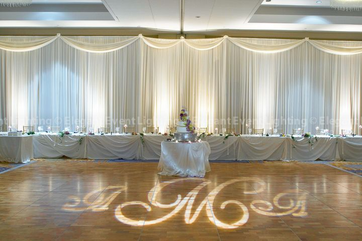 Love This White Wedding Head Table Backdrop And Monogram Design