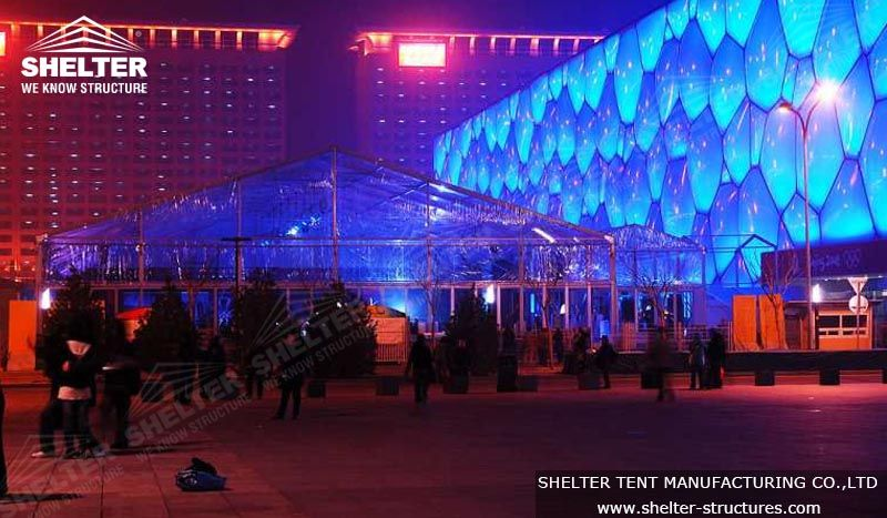 This #transparenttent was at 2008 Olympics Beijing, provided perfect space for exhibition. #exhibitiontent #cleartent #clearspanstructure  http://www.shelter-structures.com/clear-tent-for-conference Email: marketing1@shelter-structures.com
