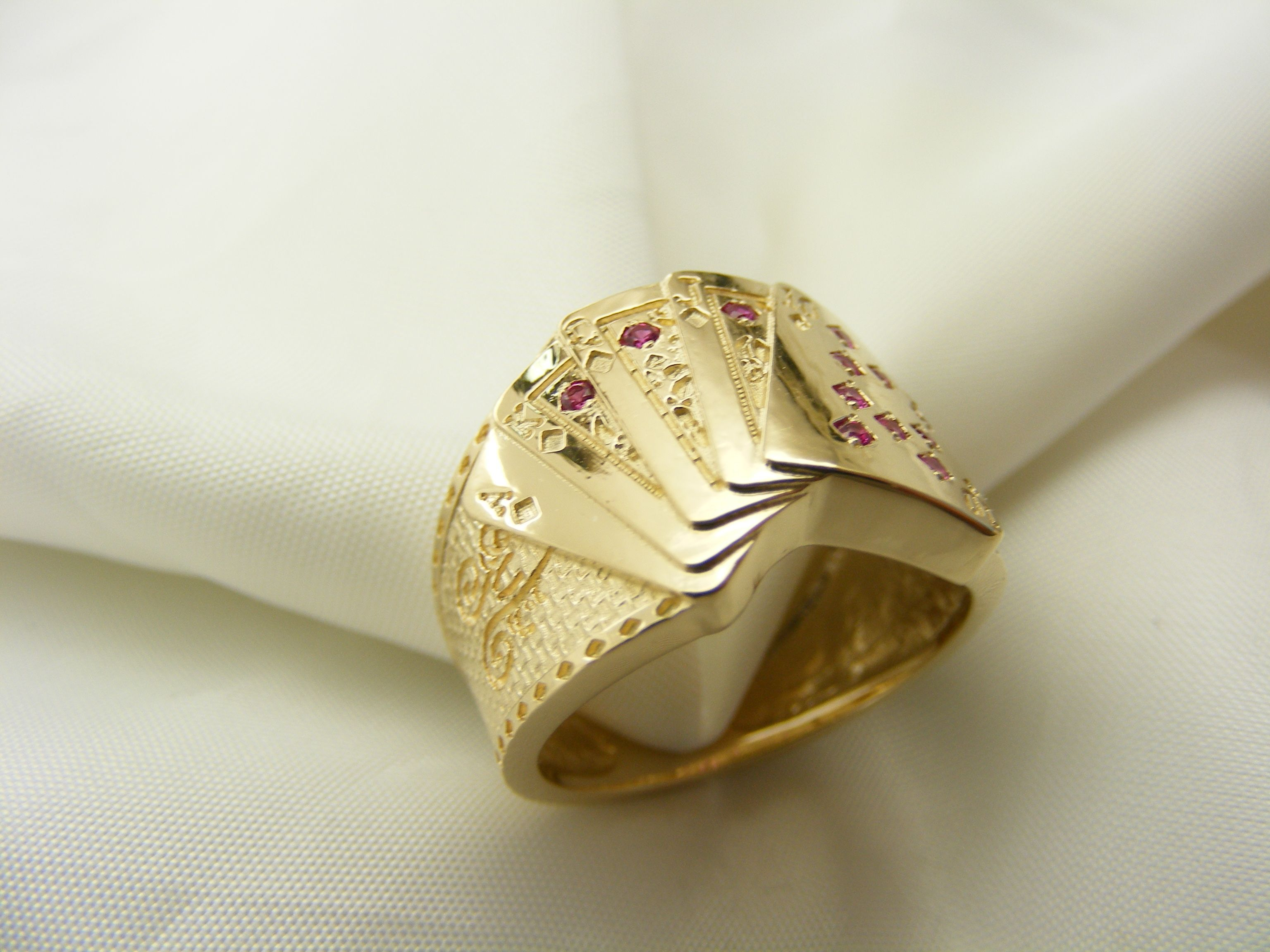 cfa73adf3 Custom Made Royal Flush Ring | Miscellaneous in 2019 | Rings ...