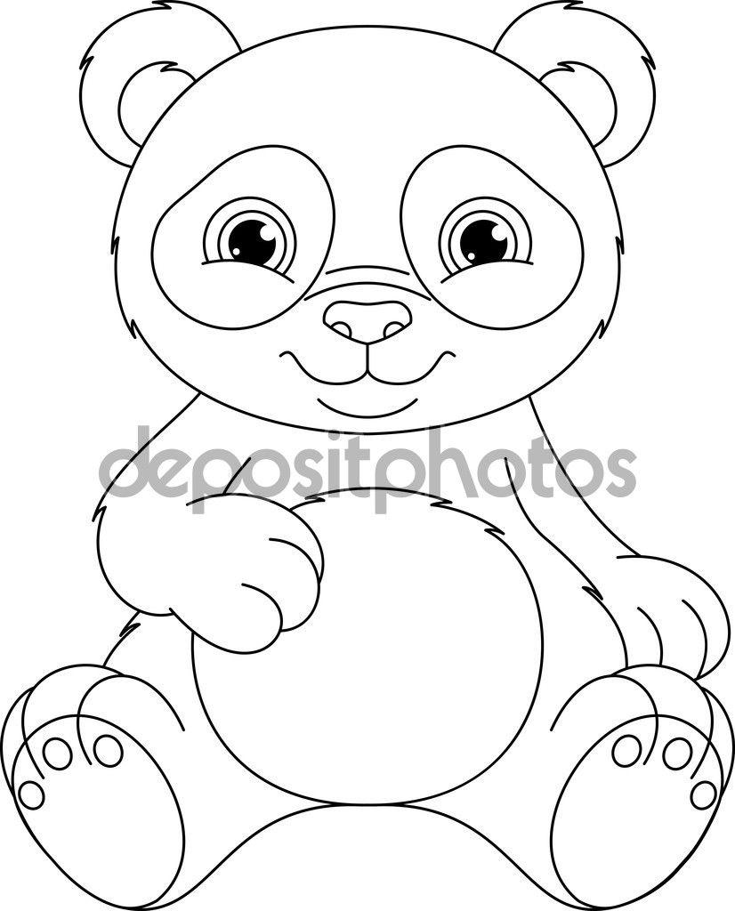 depositphotos_78422914-Panda-coloring-page.jpg (826×1024) | Panda ...