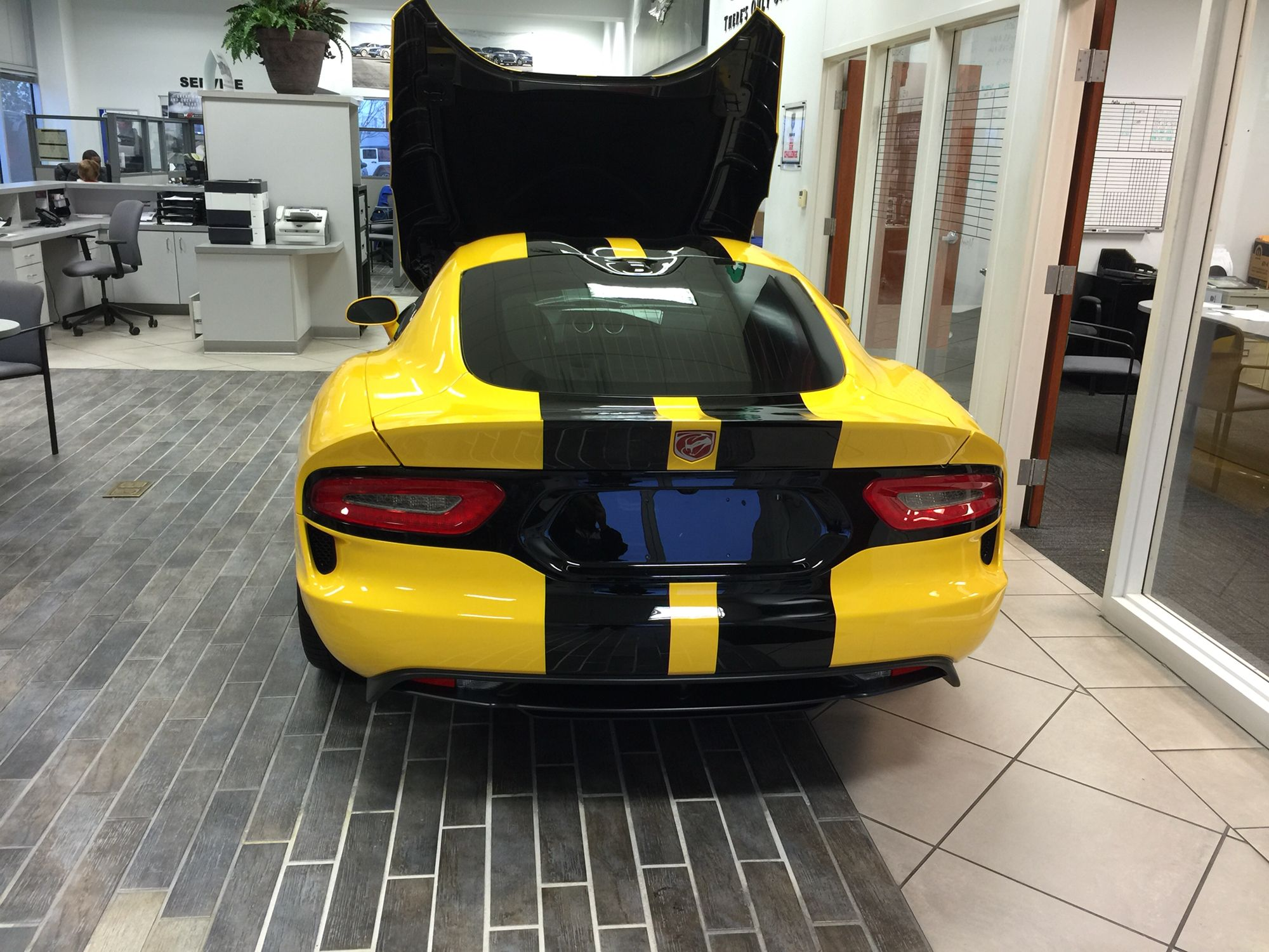 2015 SRT Viper at my local Dodge dealership. My dream car ...