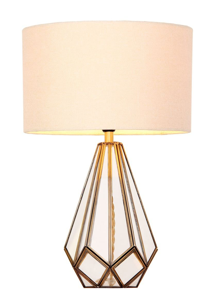 Ava Glass Table Lamp Clear In 2020 Glass Table Lamp Glass