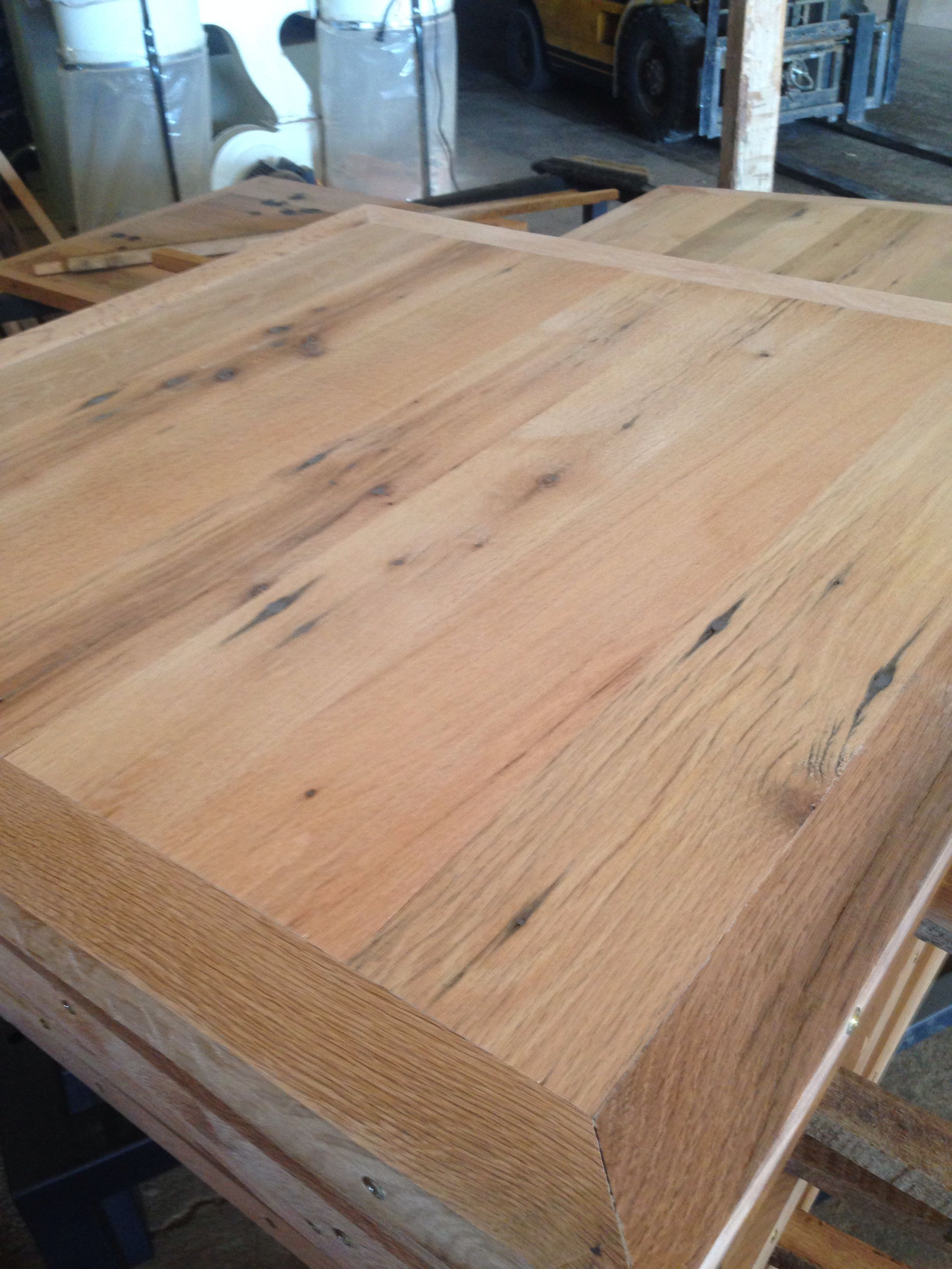 Unfinished Select Barn Oak Restaurant Table Tops