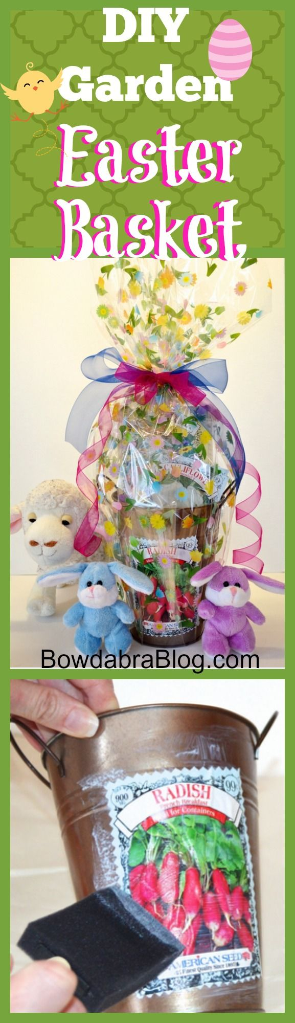 How To Make An Inexpensive Garden Easter Basket Diy Easter Basket Garden Easter Basket Easter Basket Diy Easter Baskets