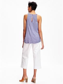High-Neck Trapeze Tank  Old Navy. Love the pants too!