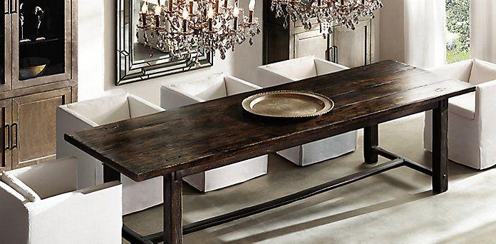17th C Spanish Monastrey Rectangular Dining Table Espresso