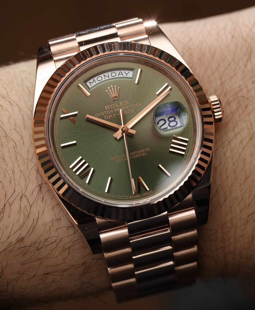 eb9cea9d6cd New Rolex Day-Date 40 60th Anniversary Watch With Green Dial Hands-On - by  Bilal Khan ...we ve updated our release article with hands-on photos - see  them ...