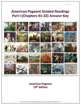 American Pageant Guided Readings - Part I (Chapters #1-#22