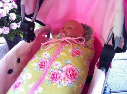Puppenwagen Schlafsack, Puppen Fußsack,