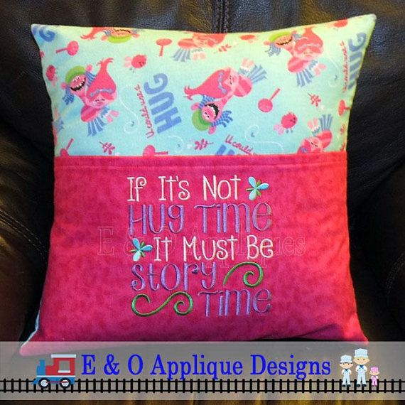 Reading Pillow Embroidery Designs