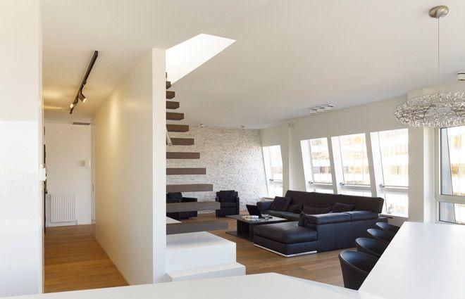 Design living met open trap interieur design loft