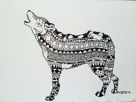 Wolf by EssenceofInk on Etsy