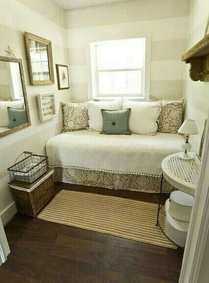 For A Small Bedroom Den Space Turn Your Bed Into A Sitting Area