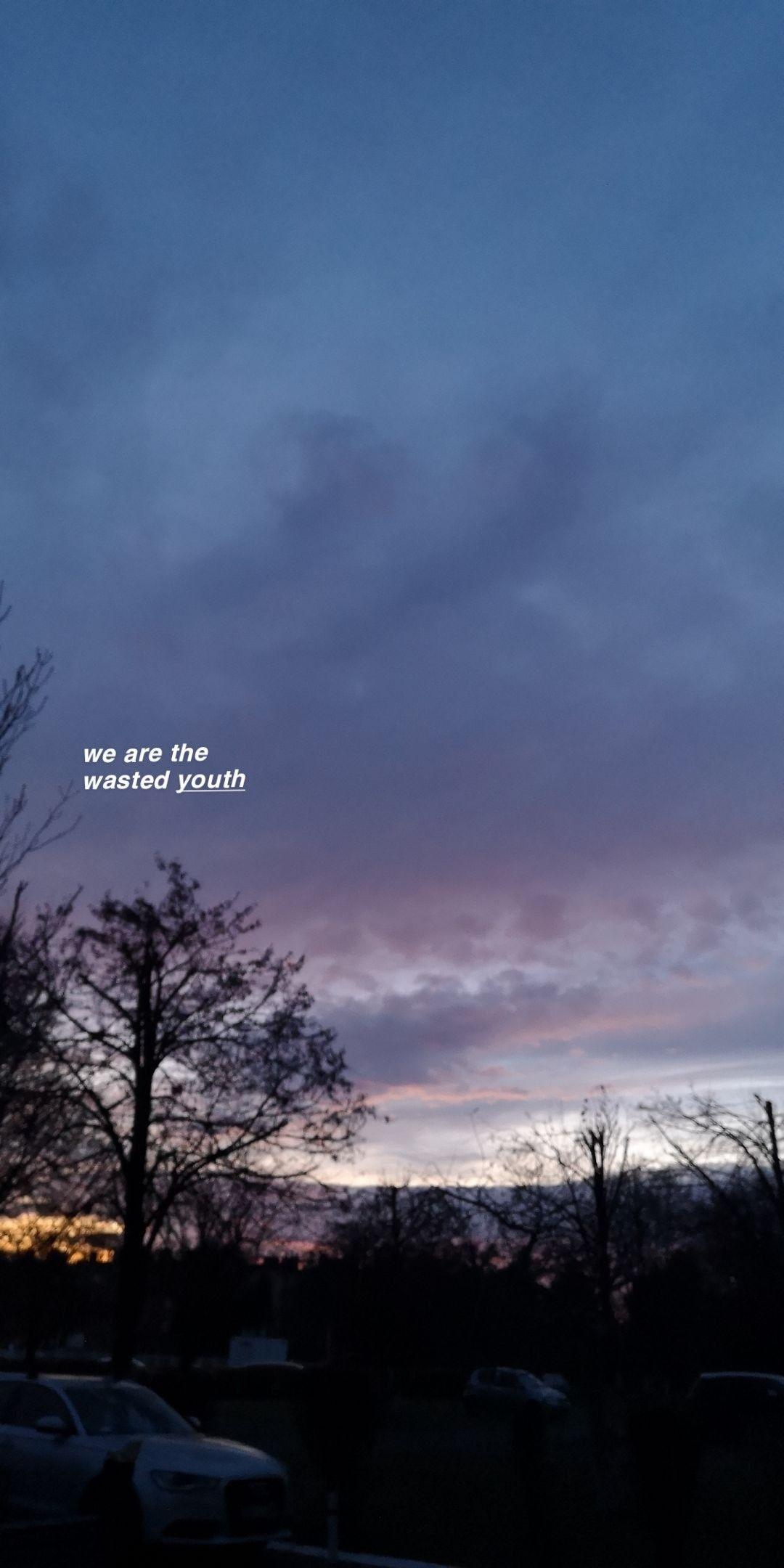 Wasted Youth Fletcher Sunset Wallpaper Sunset Lyrics Photo