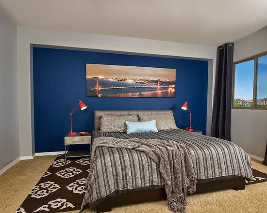 Best Grey Walls With Blue Accent Wall Blue Accent Walls Blue 400 x 300
