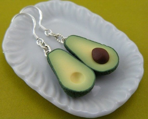 Avocados | Adorable Food Earrings-Check out the many different kinds! Funny!