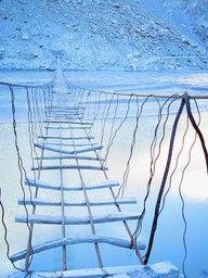 A bridge in Hunza, northern Pakistan