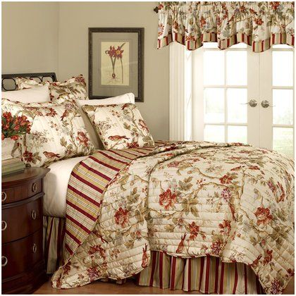 Waverly Charleston Chirp Quilt Set for the guest room