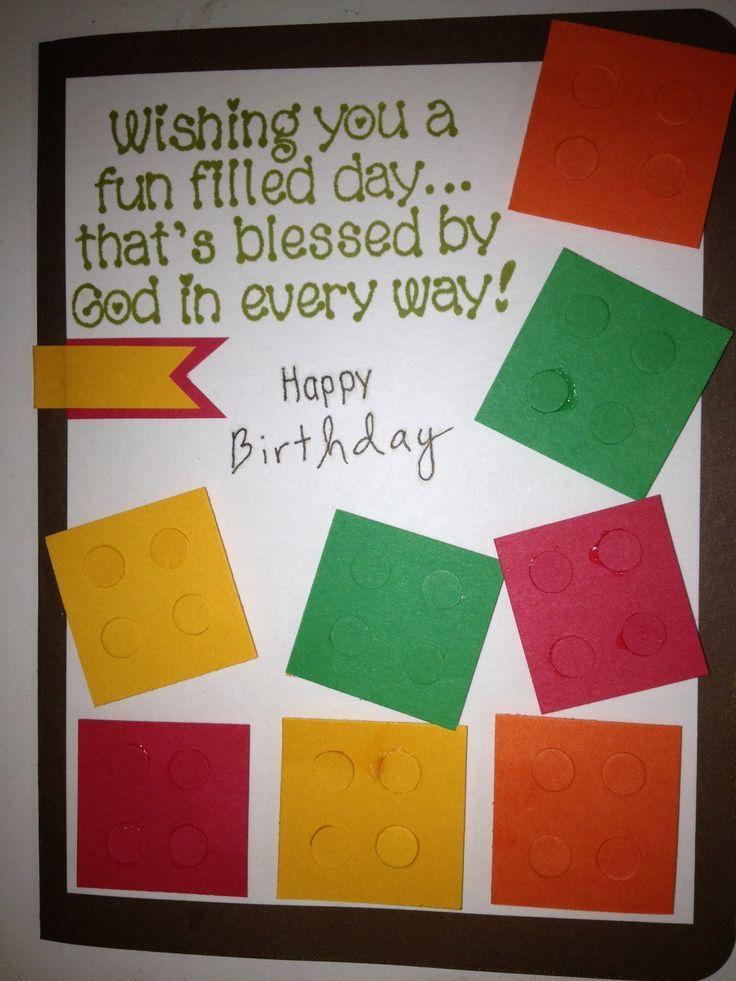 Lego Birthday Card Template Dylans Lego Birthday Card Crafts