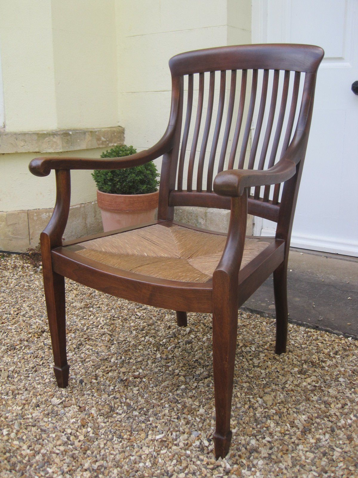 Handsome Arts And Crafts Rush Seated Desk Chair Arts And Crafts