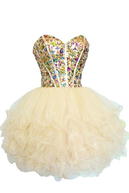 46cfcaad848 Sunvary Gorgeous Rhinestone Short Girls Homecoming Prom Dresses at Amazon  Women s Clothing store