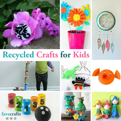 54 Recycled Crafts for Kids is part of Kids Crafts Recycled Materials - div>