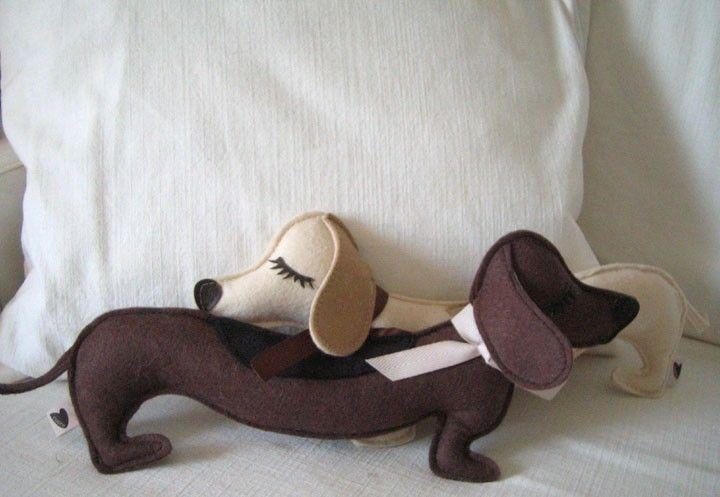 Fisher The Dachsund Weiner Dog Pillow Orange County Ca Bassotto