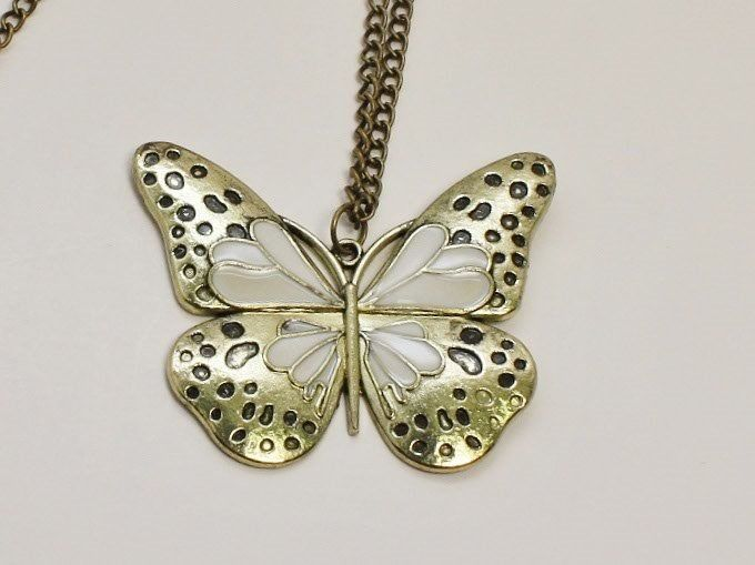 ANC03553:              Fashion Bronze Butterfly Pendant with Fashion Bronze Chain.  About the picture: There may be a slight difference of color between the picture and the actual ring because of brightness. $9.00