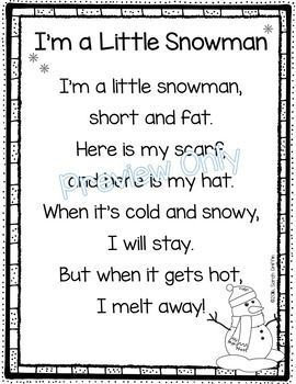 I'm a Little Snowman - Winter Poem for Kids