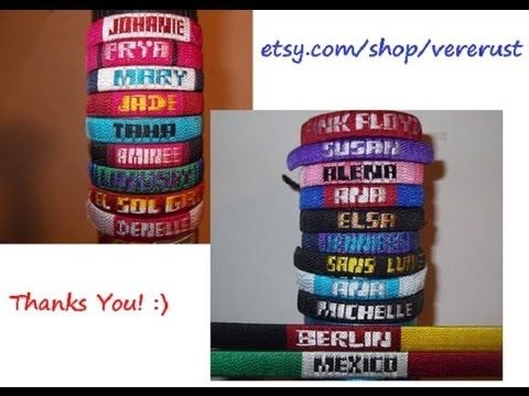 How to Make Friendship Bracelets with Names-Tutorial-Letters: A-K - http: