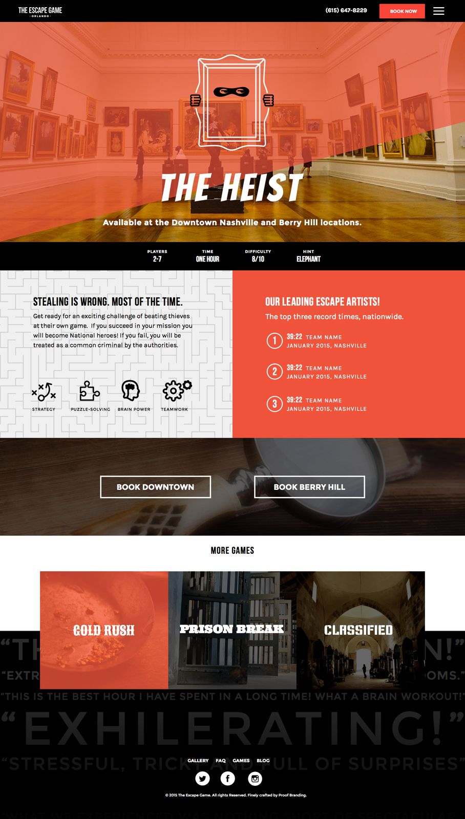 The Escape Game Brand Strategy Design Case Study Proof Branding Logos Logodesign Signage Branding Escape Game Brand Strategy Design Brand Strategy
